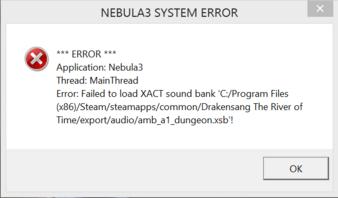 Drakensang: Am Fluss der Zeit - Nebula3 System Error ...  Drakensang: Am ...
